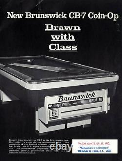 1970s GOLD CROWN NOS BRUNSWICK VINTAGE Pool Balls Coin-Op 2.25 2 1/4 3/8 Aramith