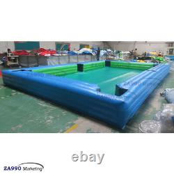 26x16ft Inflatable Snooker Pool Table Billiard Court 16Pcs Balls With Air Blower