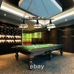 3 Light Metal Ball Design Table Pool Billiard Lamp Pendant Ceiling Fixture Light