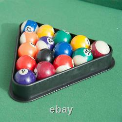 4.5ft Mini Table Top Pool Table Game Billiard Board Play with Balls Set Cues
