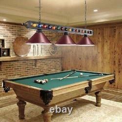 4 Light Ball Design Pool Table Lamp Billiard Ceiling Fixture Chandelier GREEN