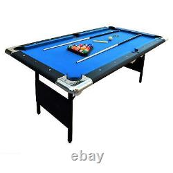 6 Ft. Portable Pool Table Indoor Billiard Game Easy Folding Storage With Balls
