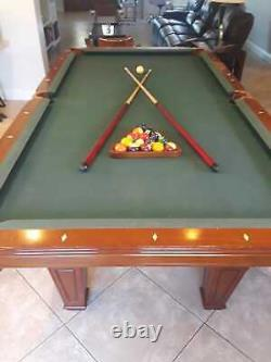 8'- 4 x 4'-7 Pool Billard table with clubs balls and accessories