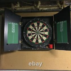 87 Pool Table, Light Wood withCues, Balls, Chalk, Triangle, Brush incl. Dart Board