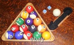 $949 Pool Table (100 X 55 X 32) + 3 cues, stand, balls, rack