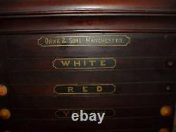 ANTIQUE 1880's ORME & SONS MANCHESTER LIFE POOL POCKET BILLIARDS SCOREBOARD
