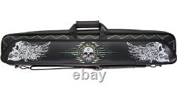 Action Eight 8 Ball Mafia Soft 4x8 Pool Cue Case Skull EBMSCE with FREE Shipping