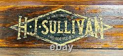 Antique 1900's Pool Cue Ball Stick Rack H J Sullivan Providence, Rhode Island