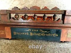 Antique Brunswick Balke Collender billiard pool ball rack head