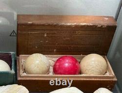 Antique Ca. 1880 Brunswick Balke Pool Ball Set In Original Box