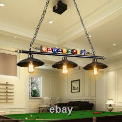 Antique Industrial Ball Design Pool Table Light Billiard Lamp with Metal Shades