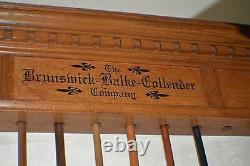 Antique Pool/Billiard/Brunswick BBC Combination Cue Rack & Ball Rack c1880s
