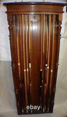 Antique Pool/Billiard/Brunswick (Cue & Ball Racks) Fancy Private Res c1880