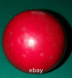 Antique Pool Billiard Red Cue Ball Large & Heavy Brunswick