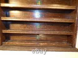 Antique Pool Billiards Ball Display Rack Oak Original Finish Brunswick Accessory