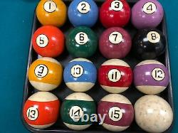 Antique Pool Billiards Pool Ball Set 2 1/4 very good condition