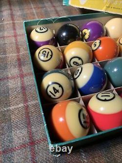 Antique Vintage Billiard Balls Callenelle Pool Balls MADE IN BELGIUM Very Nice