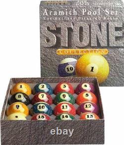 Aramith 2 1/4 Premium Stone Collection Belgian Billiard Pool Ball Set NEW ARSS