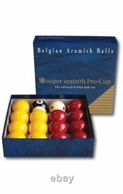 Aramith 2 Reds & Yellows Pro Cup Pool Balls (as Used On The Ipa Pool Circuit)