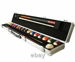 Aramith ARABX 2x2 Pool Cue & Ball Hard Metal Carrying Travel Case