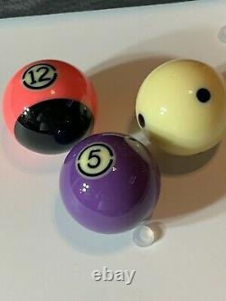 Aramith Black Tournament Tv Set Pool Ball Set Brand New 2 1/4 Size Ships Free