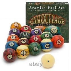 Aramith Camouflage Billiard Pool Ball set 2 1/4