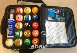 Aramith Pro Cup American Pool Balls and Carry Case Tournament Ball Set