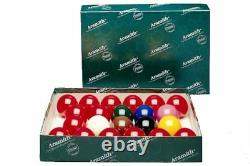 Aramith Snooker Ball Set. Full Size Premier Balls 2 1/16 Inch Balls