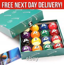 Aramith Spots & Stripes Premier Pool Balls 2 inch UK Set High Quality Ball Set
