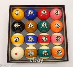 Aramith TV Tournament Pool Balls Set DURAMITH Technology -TV Colors -Pink & Tan