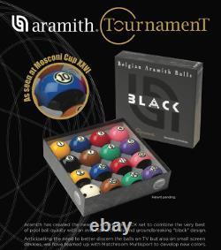 Aramith Tournament BLACK Pool Ball BRAND NEW Free Shipping CANADA & USA