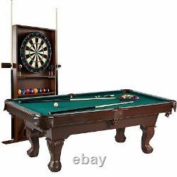 Barrington Billiards Ball and Claw Leg 90 Pool Table, Cue Rack, Dartboard, G
