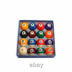 Billiard Pool Ball Tournament Quality Full Size Number Ball Set 16 Balls 2-1/4