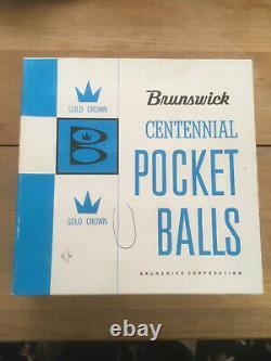 Brunswick Centennial Aramith Pool Billiard Balls set Excellent condition