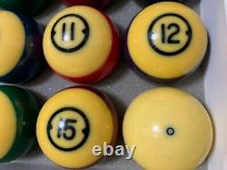 Brunswick Centennial Gold Crown Pocket Balls Pool table Billiards