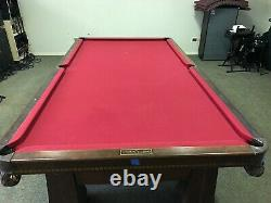 Brunswick/Monarch vintage snooker/pool table. With all original balls