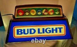 Budweiser Pool Table Light Pool Ball's Hanging Light 24X12 -14 / Man Cave Ready