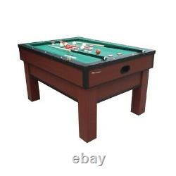 Bumper Pool Table Game Room Table with Automatic Ball Return and Accessories