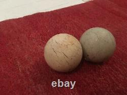 Collection of Antique Billiard Balls Beautiful Patina Snooker Pool Carom