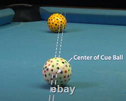 CutShots Pool Ball Aim Training System 8 Ball Set Aramith Manufactured
