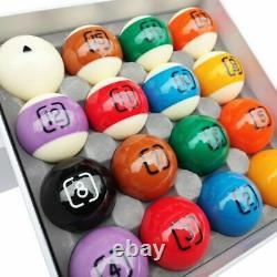 DYNASPHERE Next Gen Phenolic Resin Billiard Pool Ball Set 2-1/4-CHROMIUM