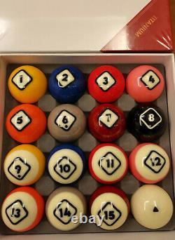 DYNASPHERE Next Gen Phenolic Resin Billiard Pool Ball Set 2-1/4-TITANIUM