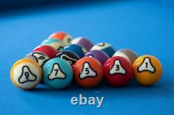 Dynasphere Platinum 2-1/4 in. Belgian Billiards Pool Balls Set with Racks