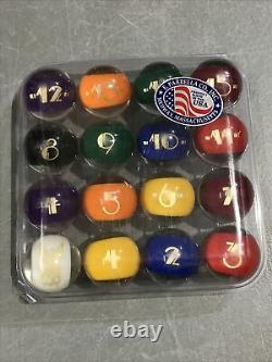 E Parrella Co. Rocco Clear Pool Balls Clear Billiard -With Case -Lightly Used