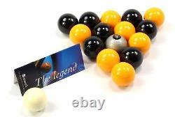 EXCLUSIVE! Aramith Premier SILVER 8 BALL Edition YELLOW and BLACK Pool Balls
