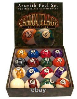 FAST FREE SHIPPING NEW Aramith Camouflage Pool Balls billiard ball set