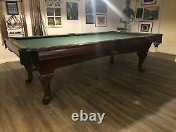 Gandy 8 Wood Pool Table, Balls And Cues