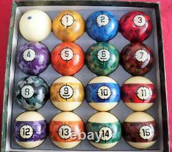 Gently Used Belgian Aramith Camoflage Pool/Billiard Ball Set (Phenolic Resin)