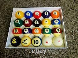 Gently Used CYCLOP Ladon Billiard Pool TV Pro Ball set (20 balls) Cyclops