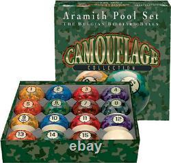 Genuine Belgian Aramith Camoflage Pool/Billiard Ball Set (Phenolic Resin)